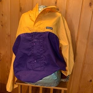 Purple and Gold Patagonia Windbreaker